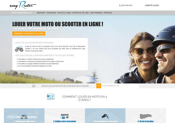 Easy Renter : la location moto en ligne facile