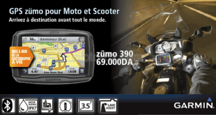 Garmin Algérie avec son GPS Moto : Zümo 390