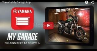 "Découvrez avec Yamaha, l'appli ""My Garage App"""