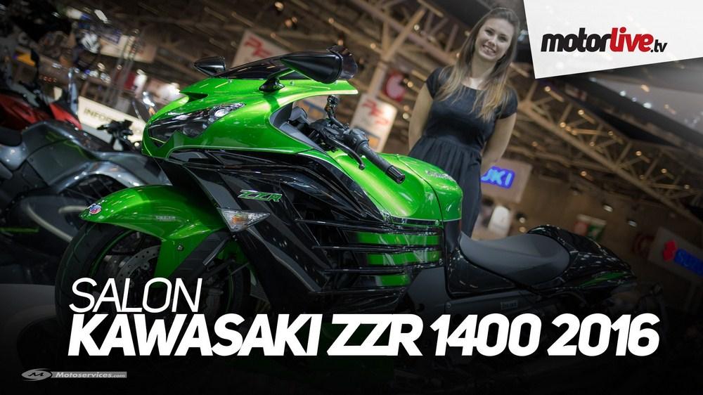 Nouvelle Kawasaki ZZR 1400 2016 : la vidéo au salon de Paris