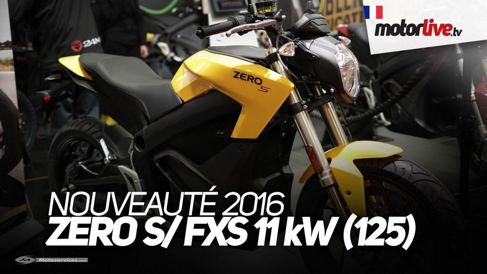 Salon de Paris : les Zero Motorcycles S et FXS permis B en vidéo
