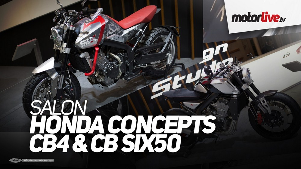 Honda CB4 et CB Six50, les deux concepts Honda de Salon en video