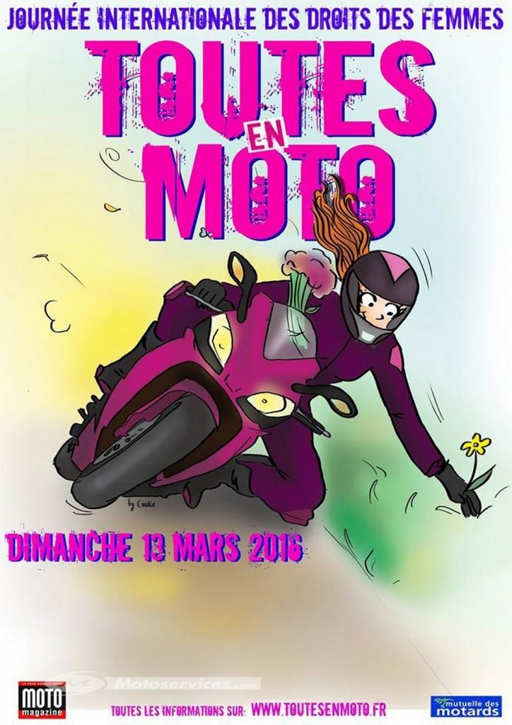 Toutes en moto 2016 : rendez-vous le 13 mars