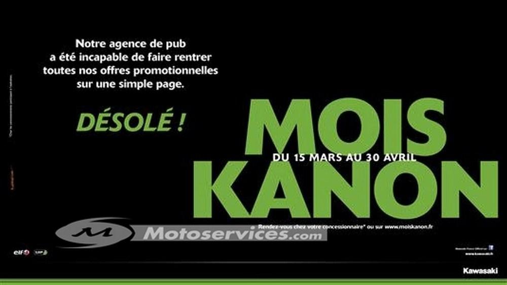 Promos Kawasaki : c'est parti pour le mois Kanon