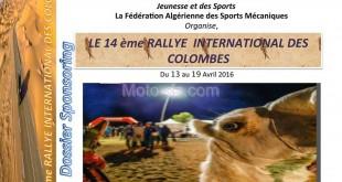 14ème Rallye International Féminin des Colombes : 13/19 avril 2016