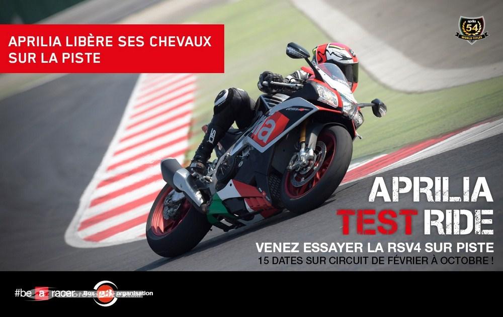 Aprilia Test Ride : 13 journées de roulage pour essayer la RSV4