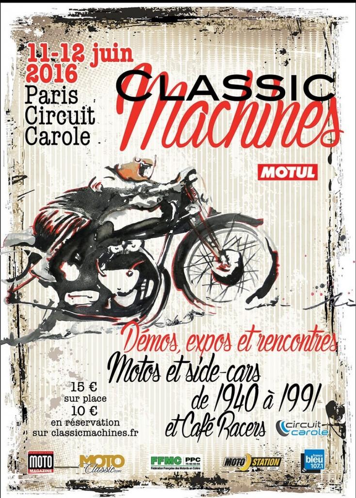 Classic Machines 2016 : les 11 et 12 juin à Carole