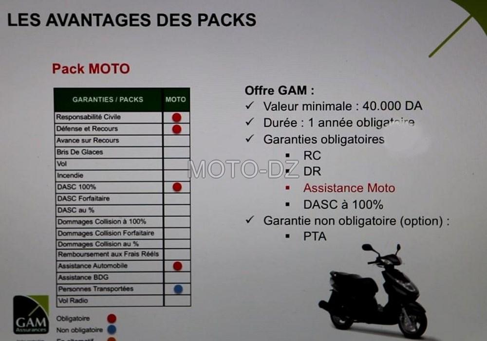 Assurance moto : nouveau pack multi-risques GAM Assurances ...