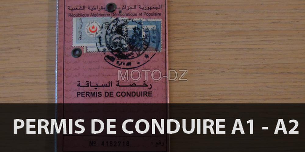 Algérie : le permis de conduire moto A1 et A2