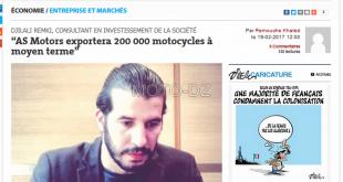 AS Motors exportera près de 200.000 motocycles à terme