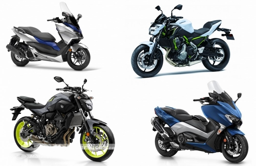 Marché moto - scooter juillet 2017