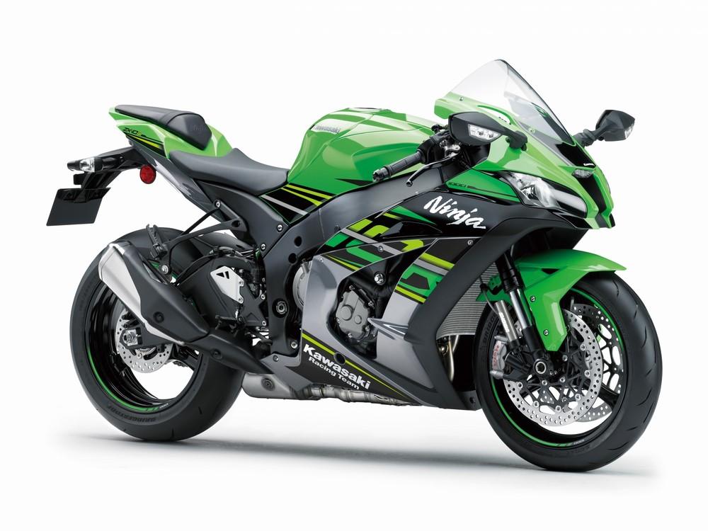 Kawasaki Versys, ZZR, ZX-10R, Z1000R, H2, J125 et J300