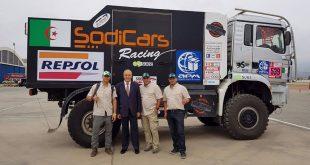 Interview du pilote algérien, Ramzi Osmani, au rallye Paris-Dakar 2018