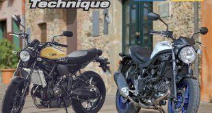 RMT 187 : Les Suzuki SV 650 et Yamaha XSR 700 à la loupe