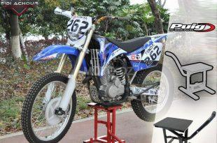 Béquille de stand basique pour votre moto enduro