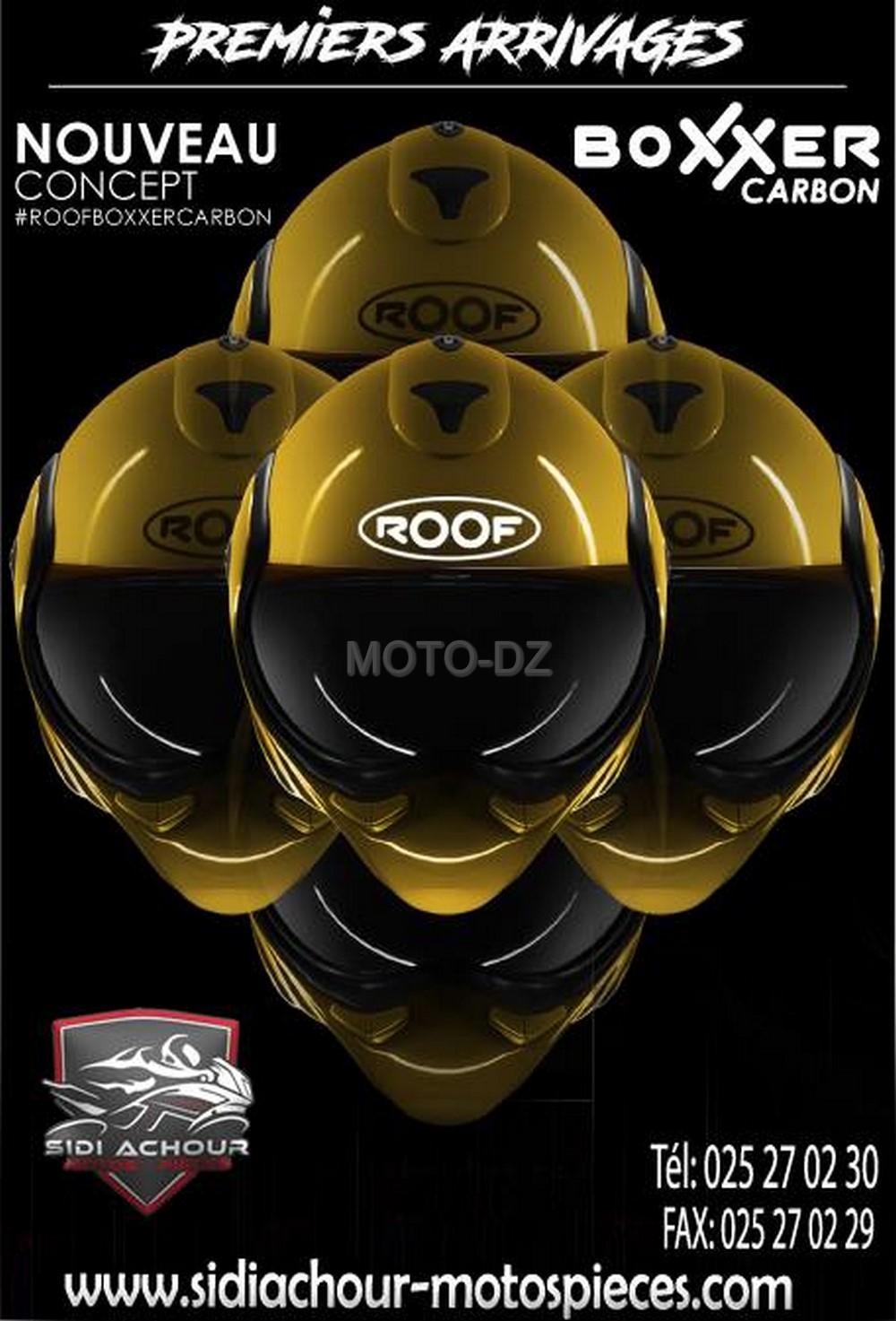 roof alg rie le nouveau casque boxxer carbon disponible moto dz. Black Bedroom Furniture Sets. Home Design Ideas