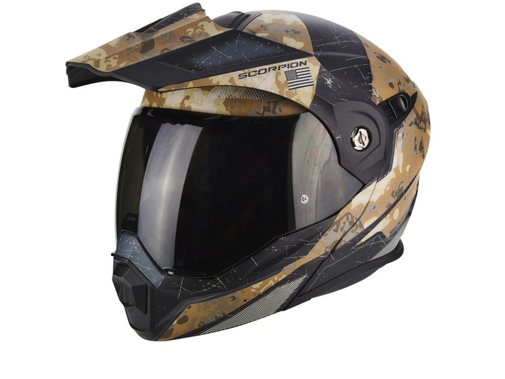 Scorpion : casques Exo-1400 Air Carbon et ADX-1 Battleflage nouveauté et déco 2018