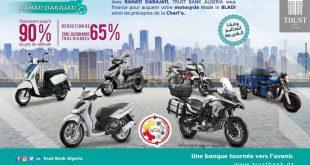 Trust Bank Algeria lance #Rahati_Daradjati pour l'acquisition de votre moto !