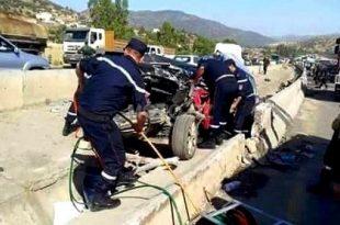 Accidents de la circulation : 19 morts et 31 blessés au cours des dernières 48 heures