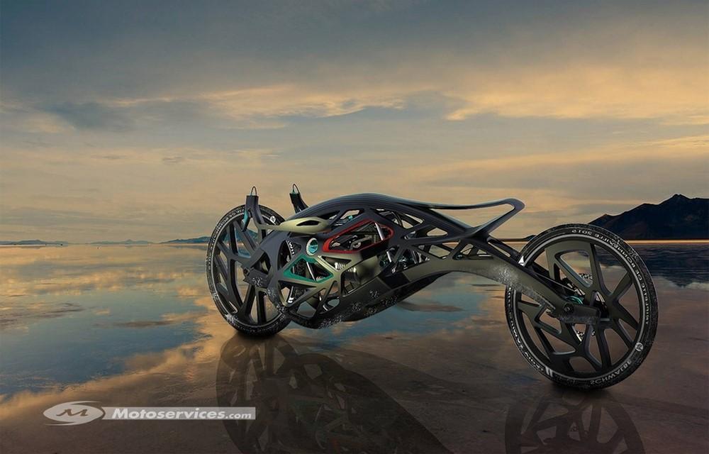 Saline Angel, une moto électrique imprimée en 3D pour battre des records !