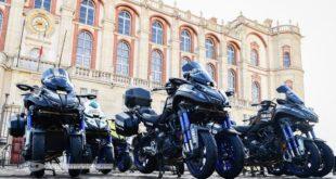 Le Yamaha Niken, moto officielle du Tour de France
