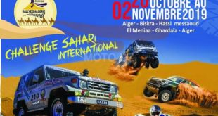 Rallye Sahari International : 5éme édition du 20 Octobre au 02 Novembre 2019