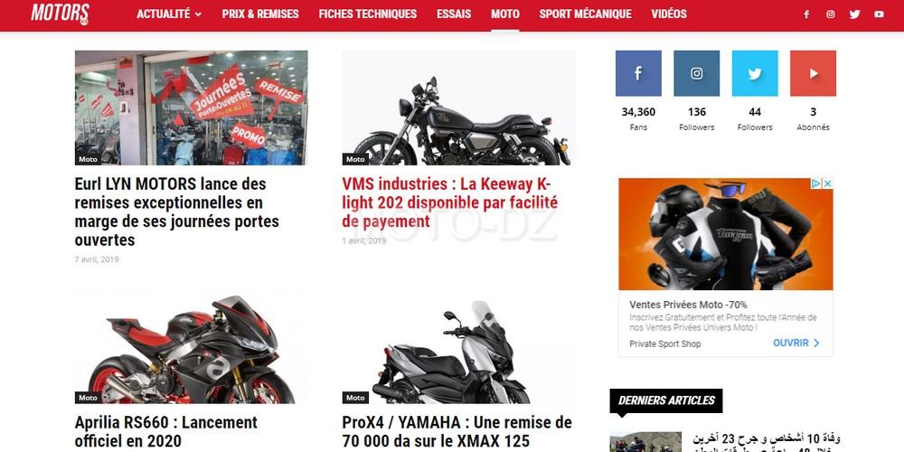 MOTORS ACTU : le nouveau site d'information Auto/Moto en Algérie