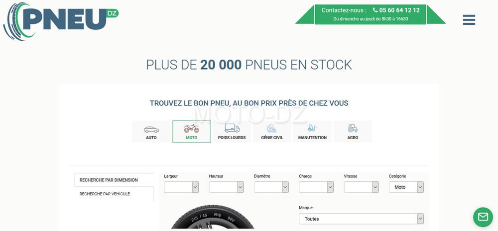 PNEUDZ.com : c'est 20.000 pneumatiques auto et moto en ligne