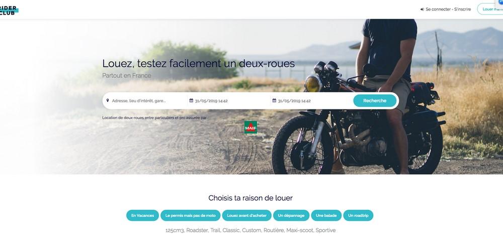 Rider Club : la location moto entre particuliers