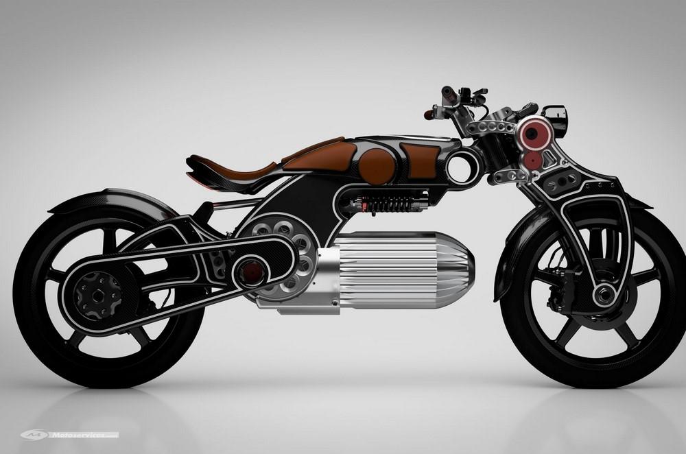 Moto électrique Curtiss Hades : 217 chevaux dans le rétro !