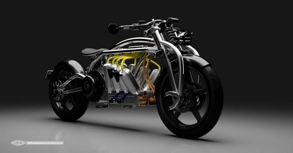 Curtiss Zeus Radial : la moto au V8 électrique