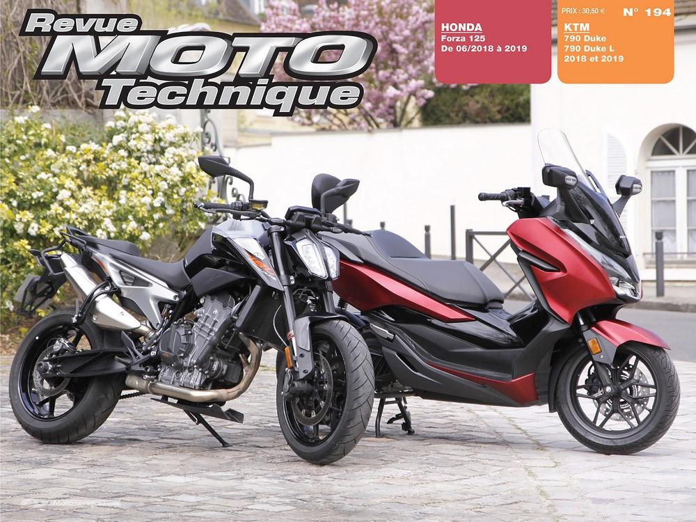 RMT 194  Honda Forza 125 et KTM Duke 790 à la loupe