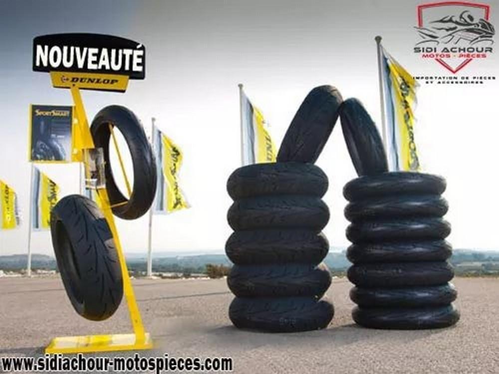 Sidi Achour Motos Pièces : arrivage de pneumatiques moto Michelin & Dunlop