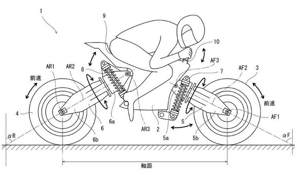 Kawasaki planche sur une moto électrique aux roues qui s'inclinent