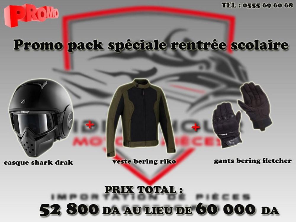 Sidi Achour Motos Pièces propose un pack équipement «Rentrée 2019»
