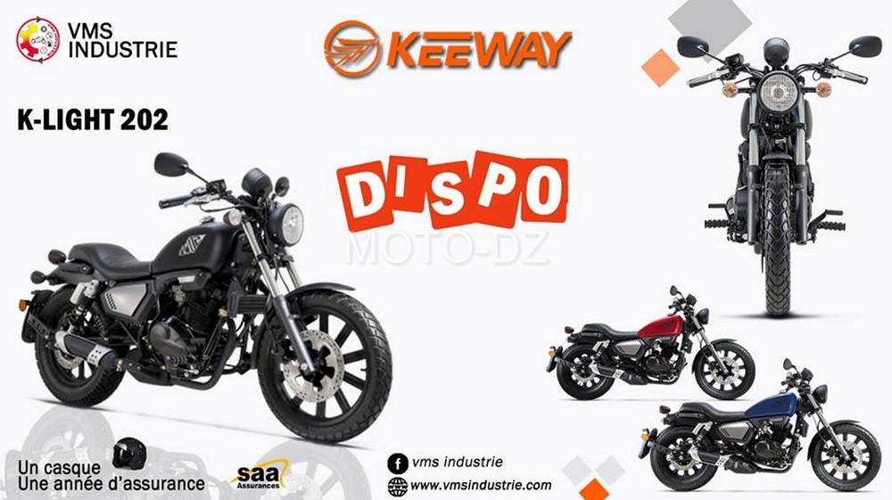 Keeway Algérie : la K-Light 202 à nouveau disponible ...