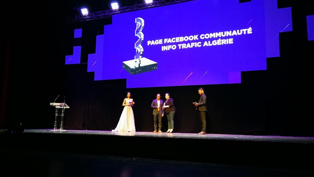 "Algeria Web Awards : Info Trafic Algérie remporte le prix ""Page Facebook Communauté"""