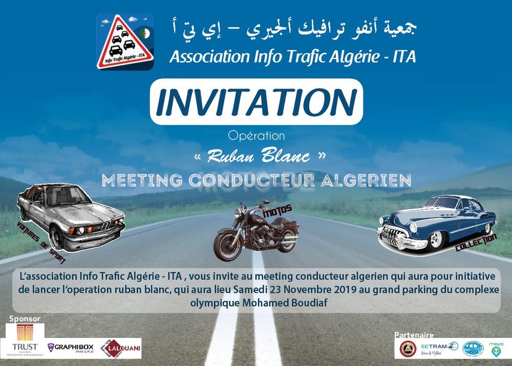 """Info Trafic Algérie - ITA : Meeting du conducteur algérien - Opération """"Ruban Blanc"""""""
