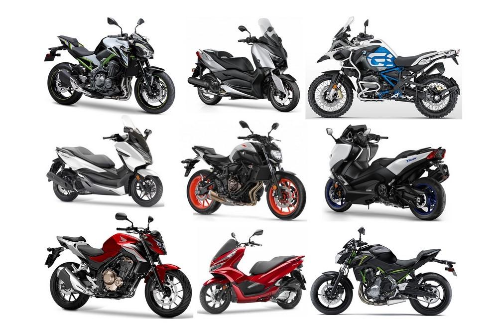 Top 50 des meilleures ventes moto et scooters en 2019