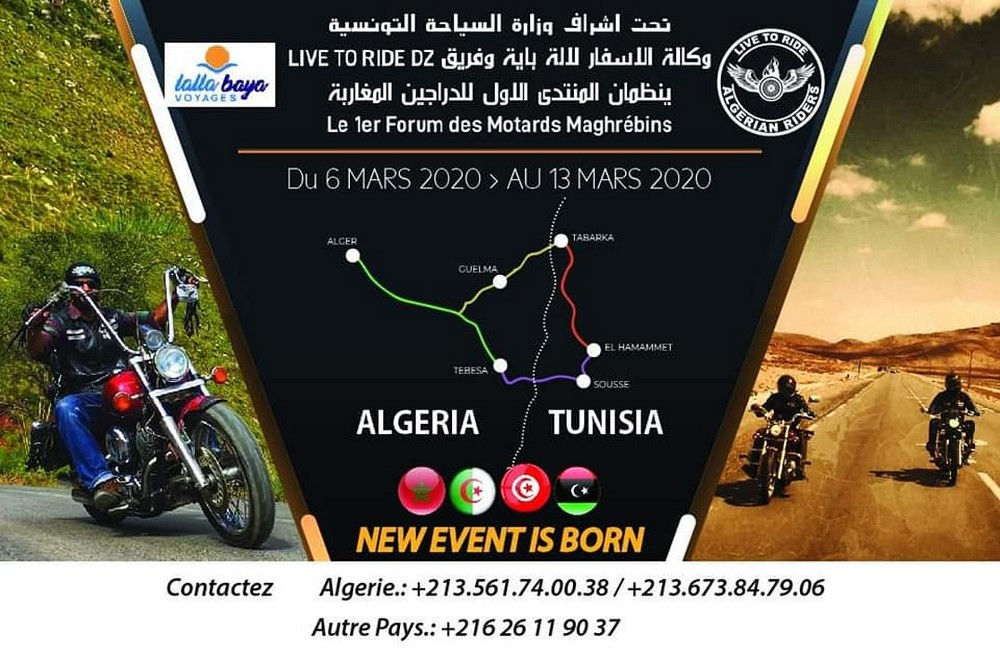 Live To Ride DZ : 1er Forum des Motards Maghrébins
