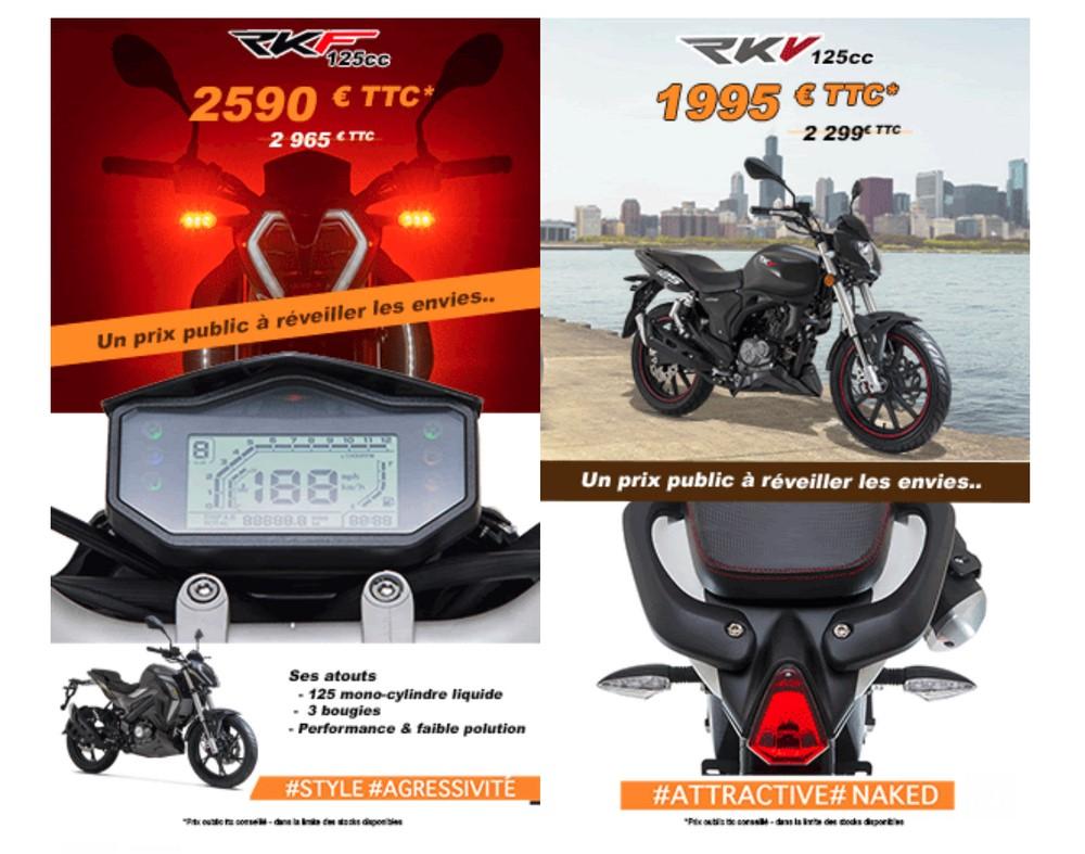 Keeway RKF et RKV 125