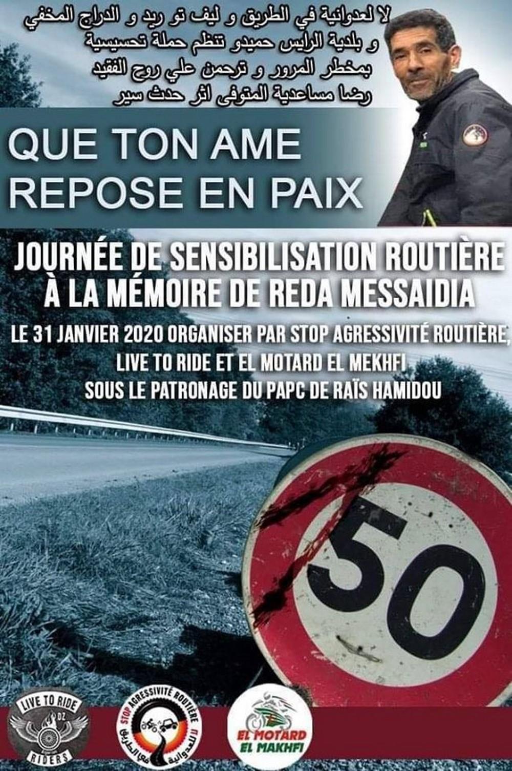 Stop Agressivité Routière : Journée de sensibilisation à la mémoire de Reda Messaidia