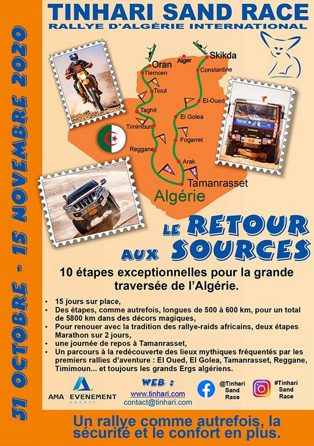 Tinhari Sand Race : Rallye Raid du 31 Octobre au 15 Novembre 2020