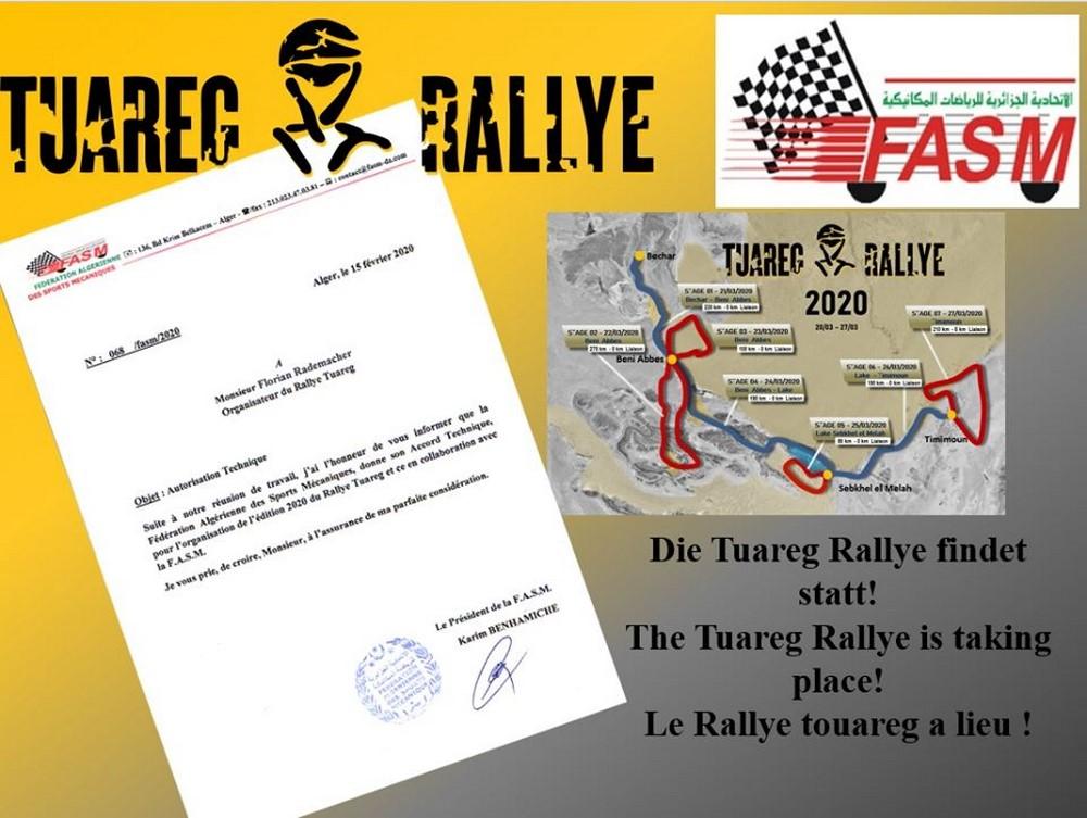 Tuareg Rally 2020 : confirmation et autorisation de la FASM reçue !!!