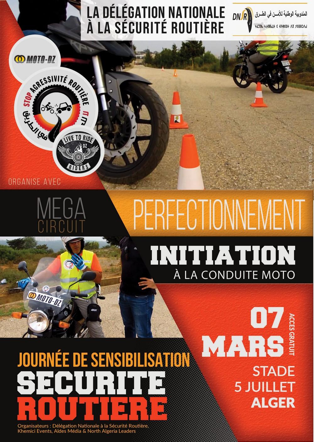 Journée de sensibilisation routière liée à la moto le 07 mars 2020 à Alger