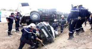 Accidents de la route : 39 décès et 1642 blessés en une semaine