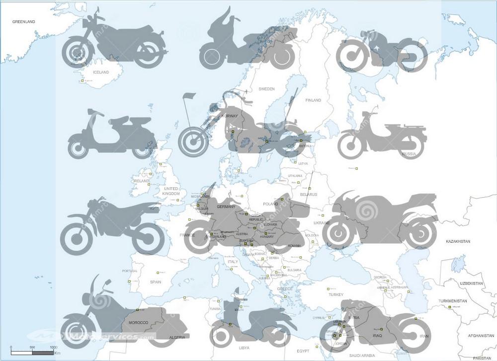 Top ventes motos - scooters Europe 2019