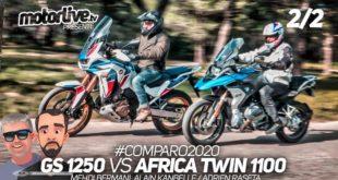 Vidéo comparatif 2020 Africa Twin 1100 vs R1250GS