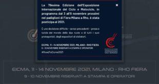 Salon Eicma de Milan 2020 annulé