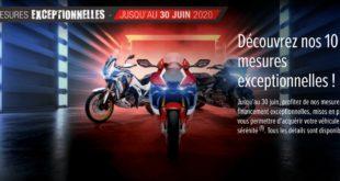 Honda : 10 mesures exceptionnelles pour déconfiner en deux-roues